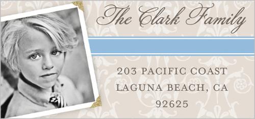 Faithful Damask Boy Address Label by Blonde Designs