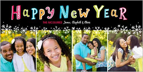 Splendid New Year New Year's Card