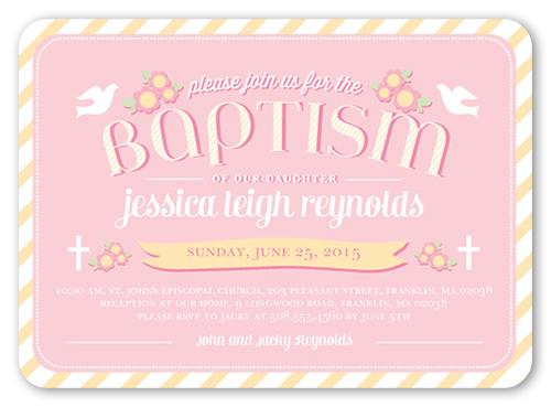 Loving Doves Girl Baptism Invitation by pottsdesign