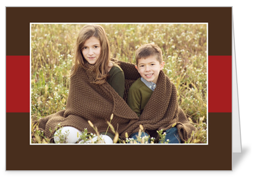 Brown Red Band 5x7 Folded Card