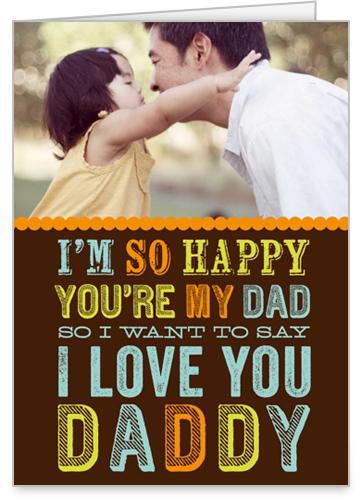 Love You Daddy Birthday Card by treat.