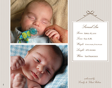 Sweet Baby Boy Photo Book