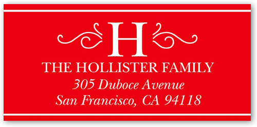 Monogram Expression Address Label