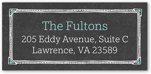 Chalkboard Frame Address Label