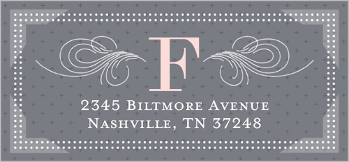 Elegant Arrival Girl Address Label