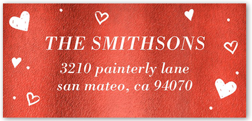Delightful Hearts Address Label