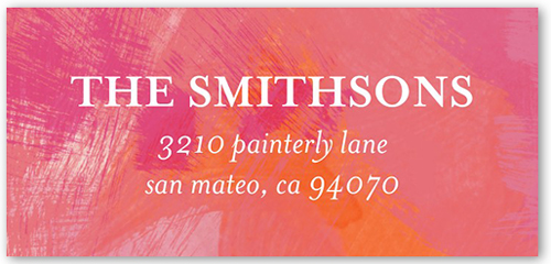 Painted With Love Address Label