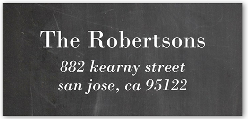 Candid Chalkboard Address Label