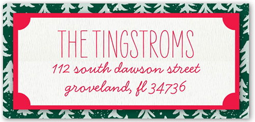 Frosted Tree Frame Address Label