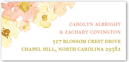 Blooming Forever Address Label