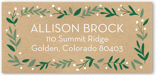 Gracious Boughs Address Label