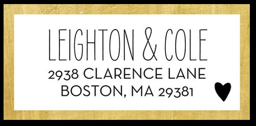Textured Love Address Label