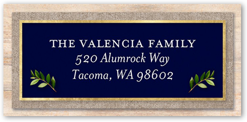 Classic Merry Monogram Address Label