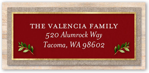 Classic Merry Monogram Address Label