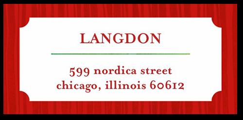 Festive Cocktail Address Label