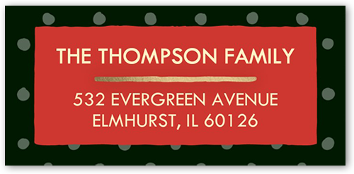 Be Merry Tree Address Label