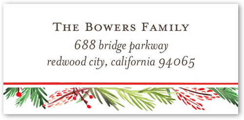 christmas address labels holiday address labels shutterfly