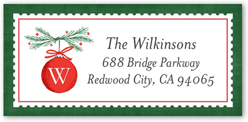 Hanging Monogram Ornament Address Label