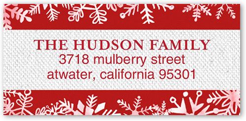 Merry Falling Flakes Address Label