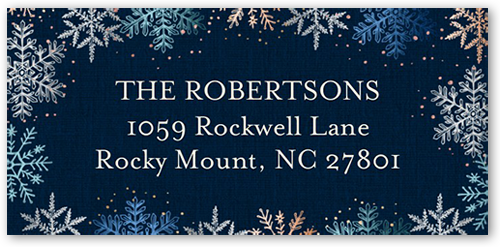 Snow Time Splendor Address Label