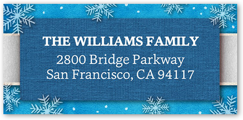 Frosted Script Address Label