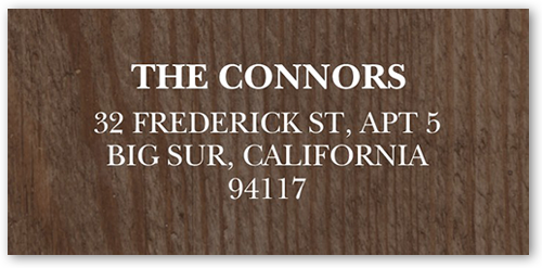 Basic Woodgrain Address Label