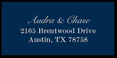 Simple Shimmer Address Label