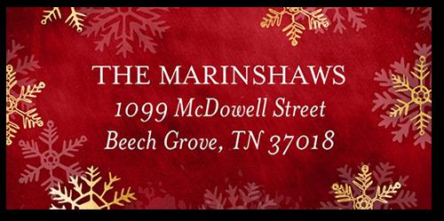 Merry Snowy Flurries Address Label
