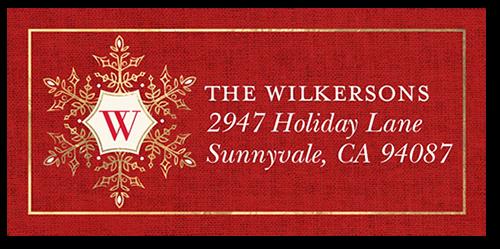 Elegant Season Greetings Address Label
