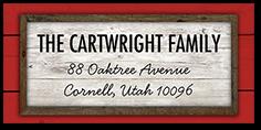 vintage sign address label