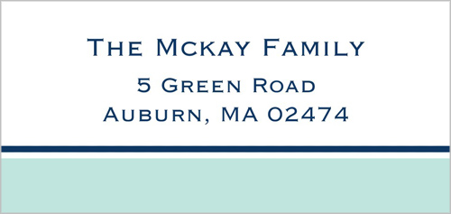 Nantucket Blue Address Label