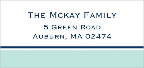Nantucket Blue Address Label