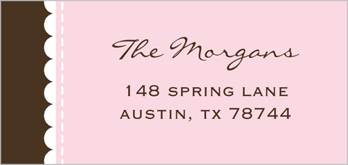 Faithfully Pink Address Label
