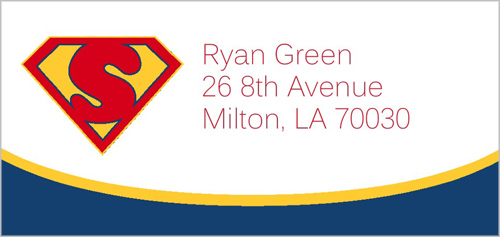 Super Hero Address Label