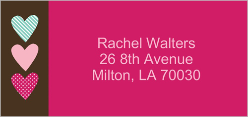 Sweet Hearts Address Label