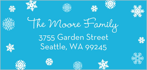 Sparkling Snowflakes Address Label