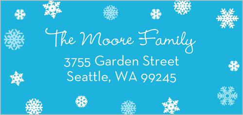 Sparkling Snowflakes Address Label