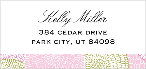 Chrysanthemum Patch Address Label