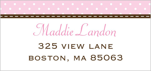 Modern Monogram Address Label
