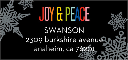 Snowflakes And Peace Address Label