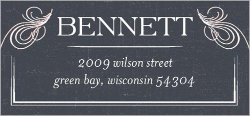 Vintage Scalloped Frame Address Label