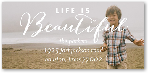 Life is Beautiful Address Label