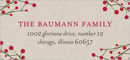 Berry Branches Address Label