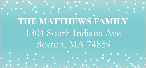Frosted Greetings Address Label