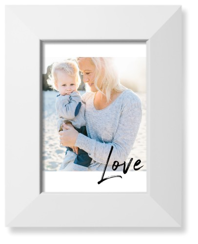 Love Contemporary Art Print, White, Pearl Shimmer Card Stock, 5x7, White