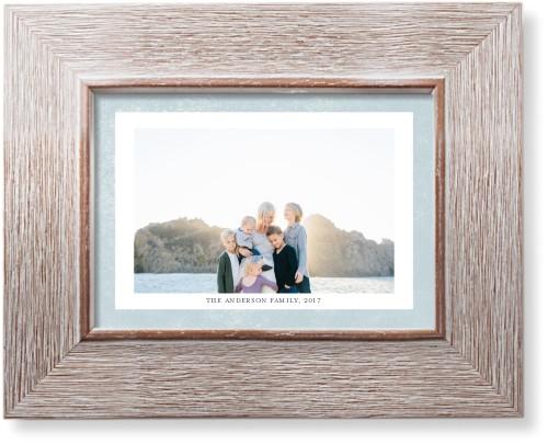 Bold Frame Landscape Art Print, Rustic, Pearl Shimmer Card Stock, 5x7, Blue