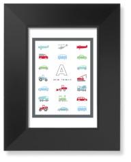 transportation car border art print