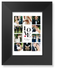 stacked love art print