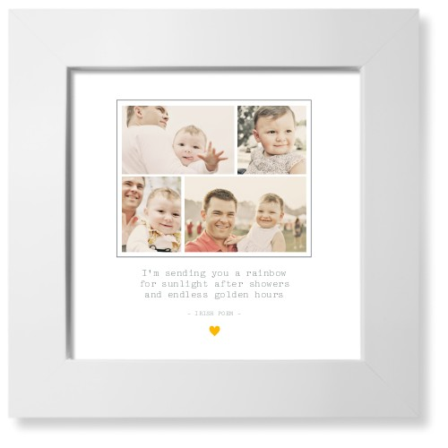 Forever Heart Collage Art Print, White, Signature Card Stock, 8x8, White
