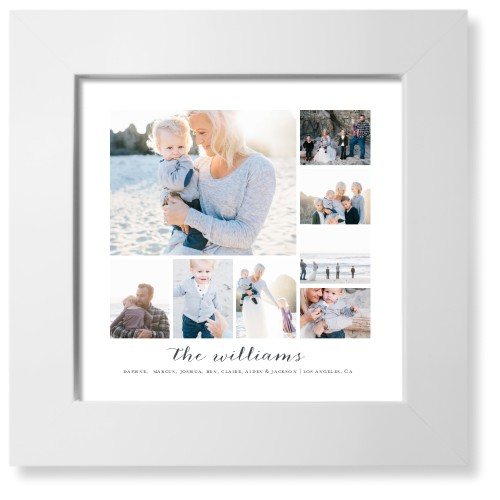 Clean Gallery Collage of Eight Art Print, White, Pearl Shimmer Card Stock, 8x8, Multicolor